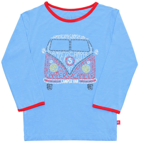 Bamboo short sleeve tee - William the London bus