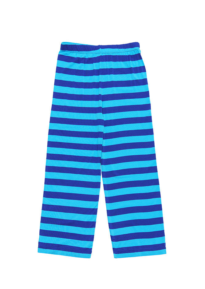 Yoga pants Blue stripe - SNUGALICIOUS BAMBOO