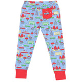 Bamboo long John Pyjamas - 3 little taxis - SNUGALICIOUS BAMBOO