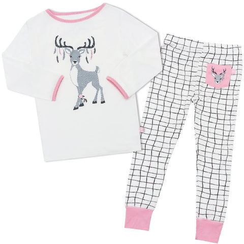 Bamboo onesie - long sleeve - Eve's Deer
