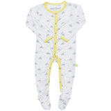 Bamboo sleep suit - Cloud print - SNUGALICIOUS BAMBOO