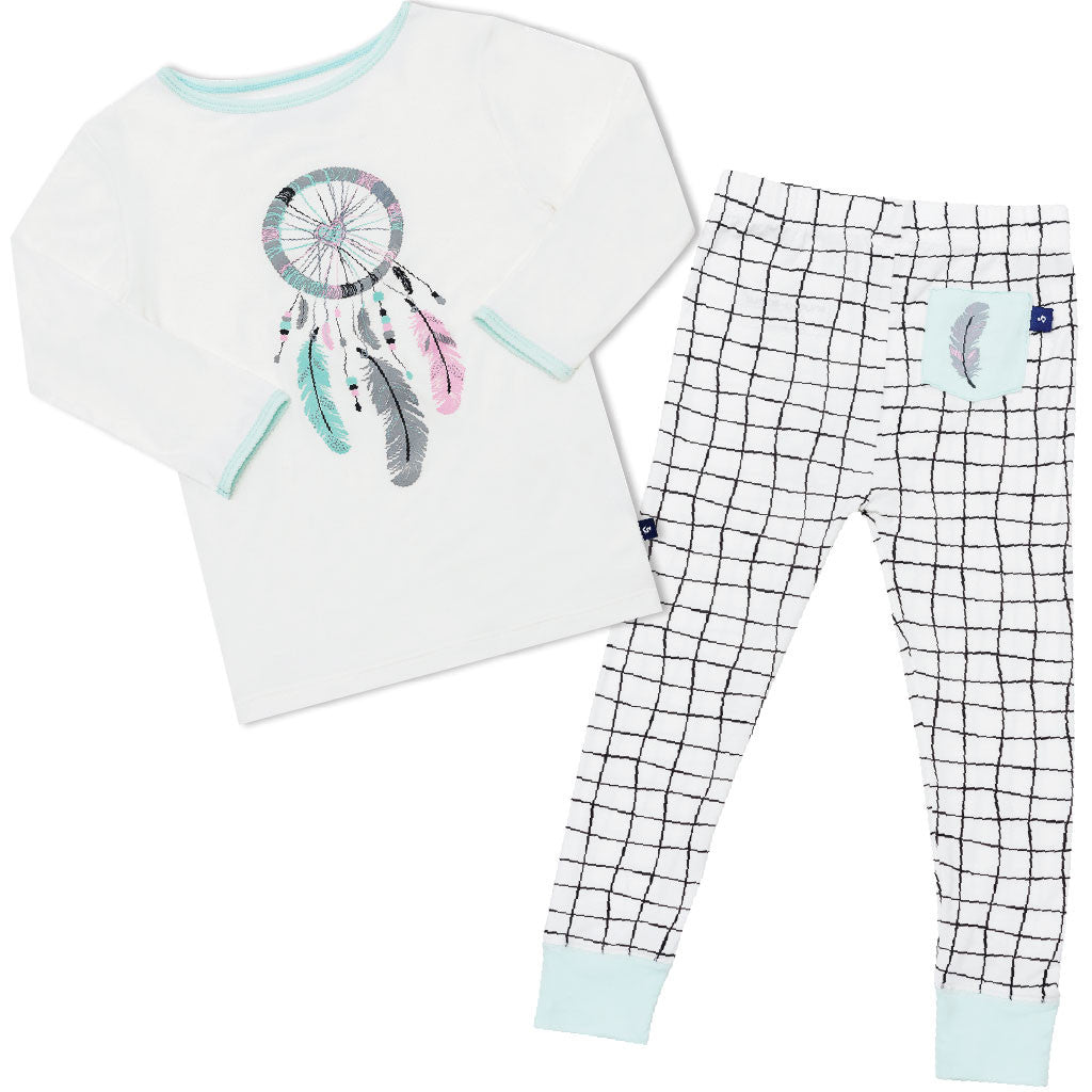 Snug-a-licious bamboo long john pyjamas - Dream catcher
