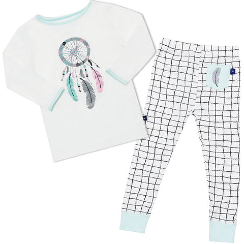 Bamboo long John Pyjamas - 3 little taxis