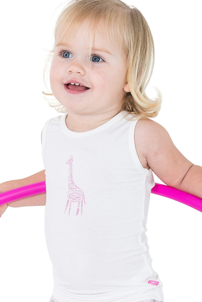 Tank top - Kiki the giraffe - SNUGALICIOUS BAMBOO