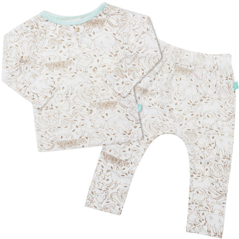 Bamboo onesie - short sleeve - Foxy fox