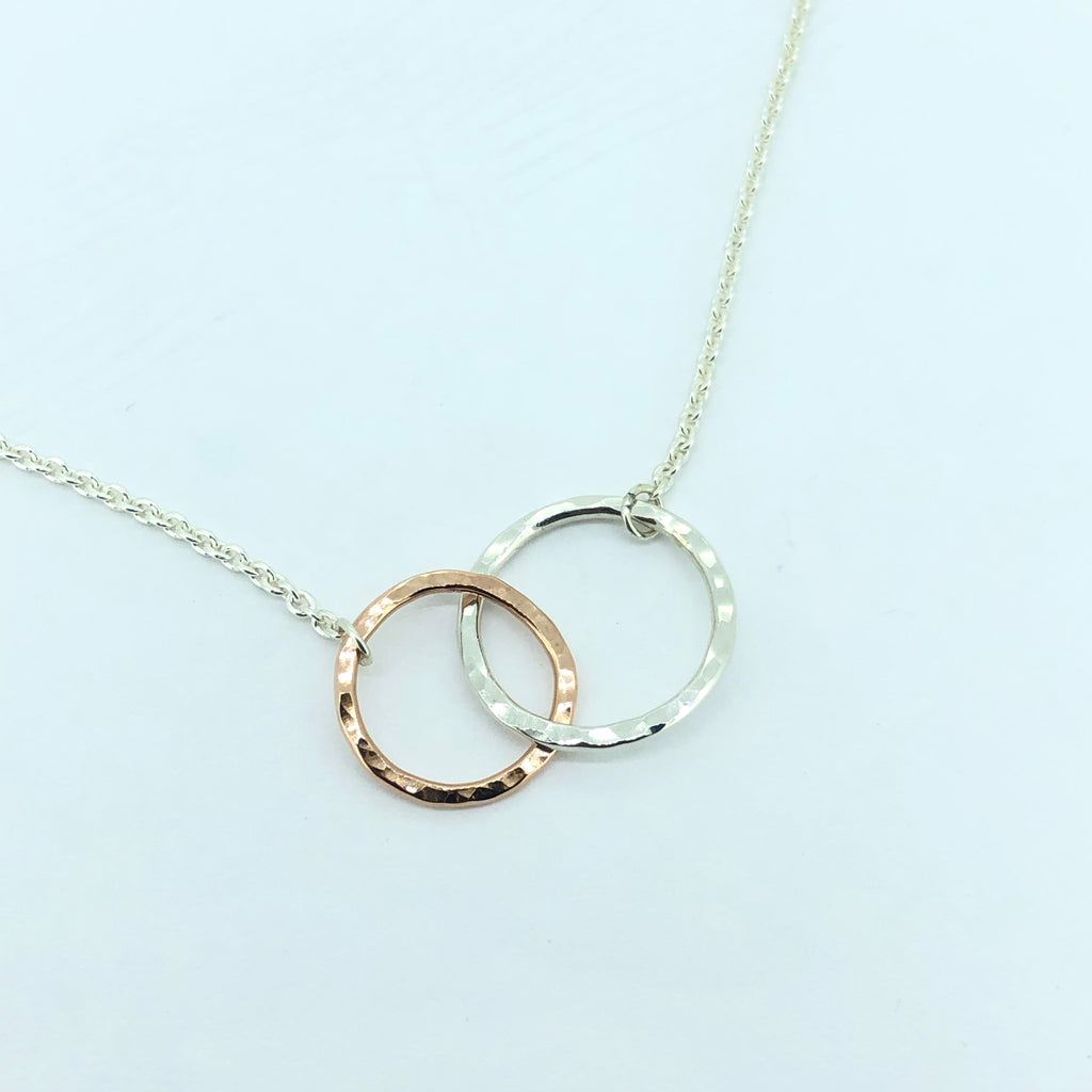 High polish infinity necklace ( two-tone)