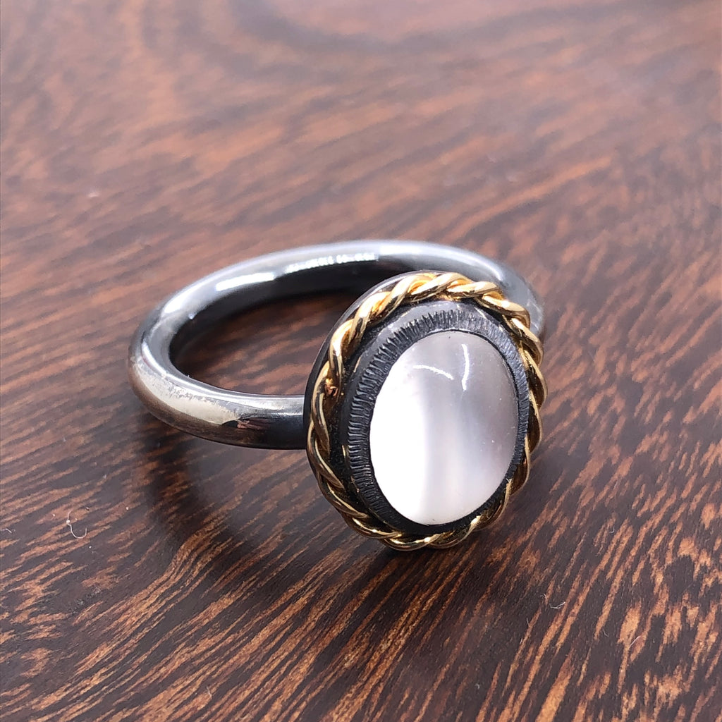 Cat's Eye Moonstone ring