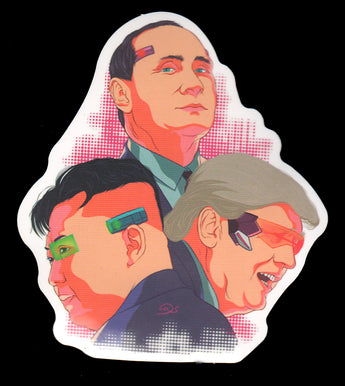 008 Vladimir Putin Donald Trump Kim Jong-un BFFs Sticker - Anti Trump Stickers