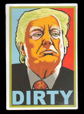 009 Trump Face Dirty Sticker - Anti Trump Stickers