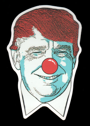 011 Trump Clown Nose Face Sticker - Anti Trump Stickers