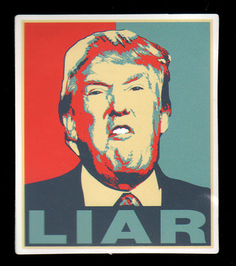 017 Trump LIAR Sticker - Anti Trump Stickers