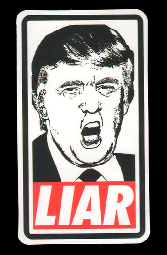 018 Trump Face Liar Sticker - Anti Trump Stickers