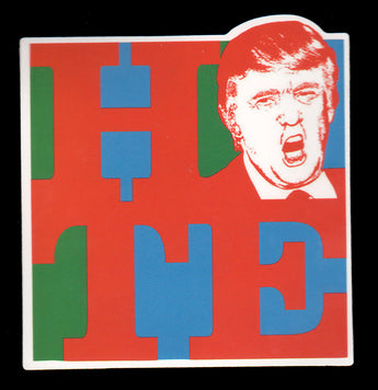 019 Trump Face H*te Sticker - Anti Trump Stickers