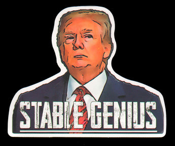 023 Donald Trump Stable Genius Sticker - Anti Trump Stickers