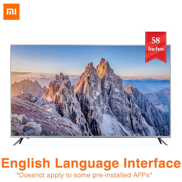 2019 NEW Xiaomi TV 4s 58 Inches 4K HDR 2GB 8GB Smart TV Voice Control Built in Xiaoai Speaker Dolby Audio TV