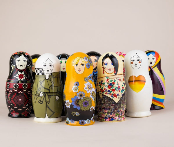 Custom nesting doll for Sarah Eubanks