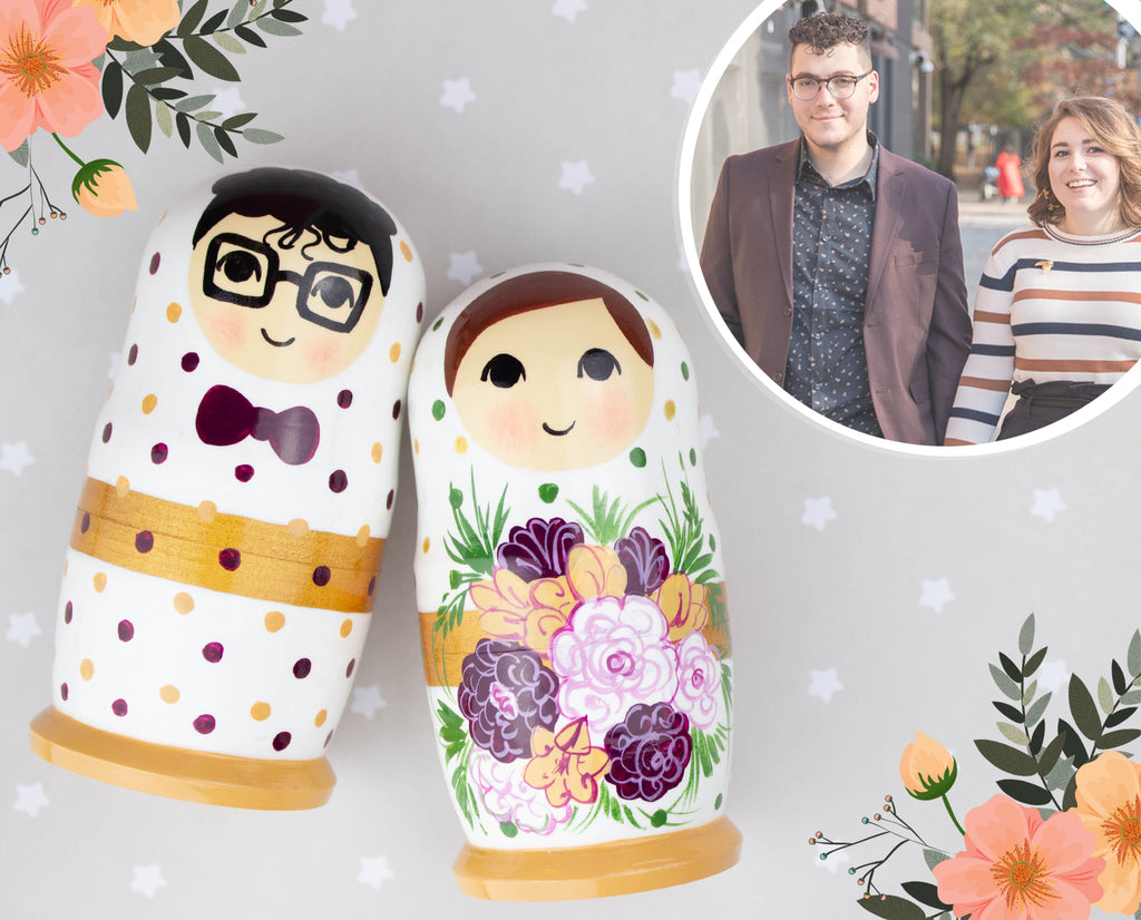 Simplistic wedding nesting doll