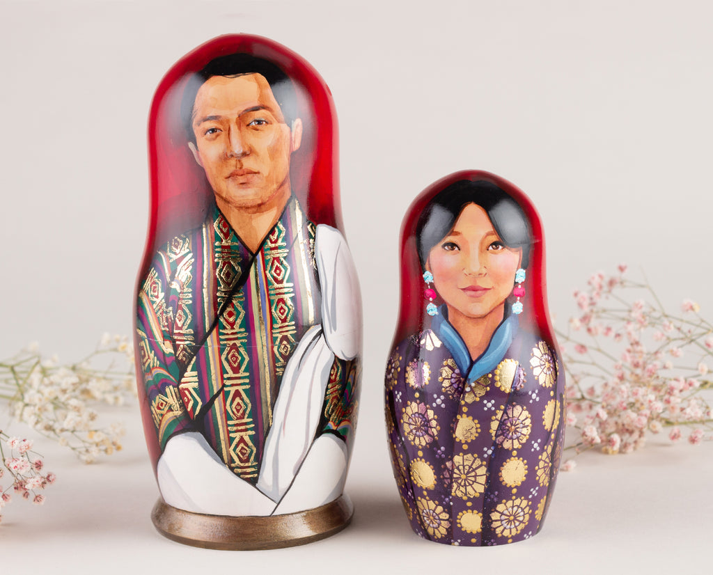 wedding nesting dolls