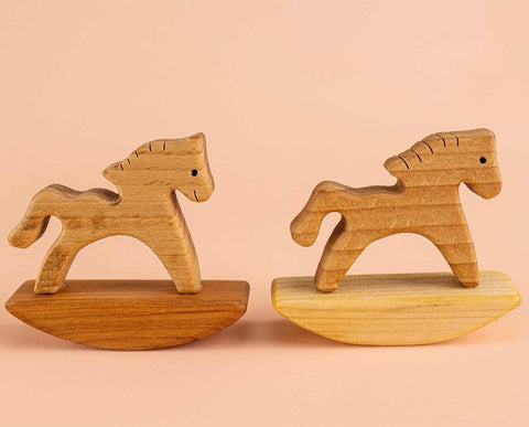 Wooden rocking horse toy
