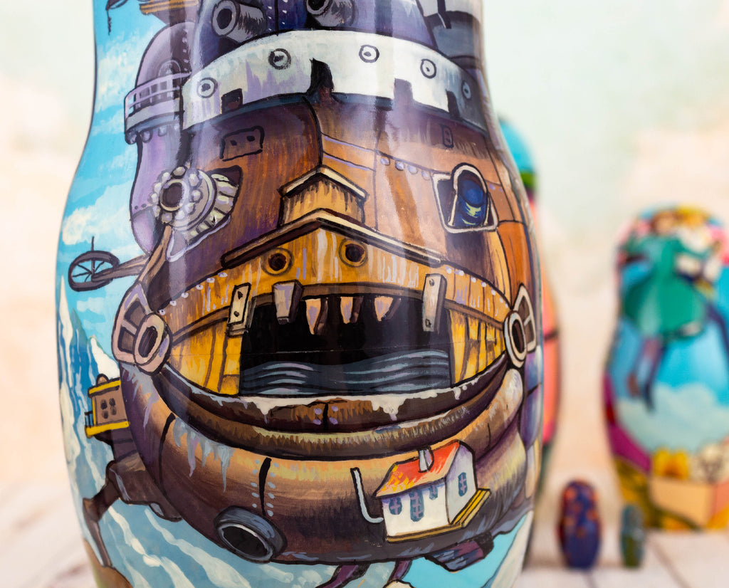 howl's moving castle closeup on nesting doll