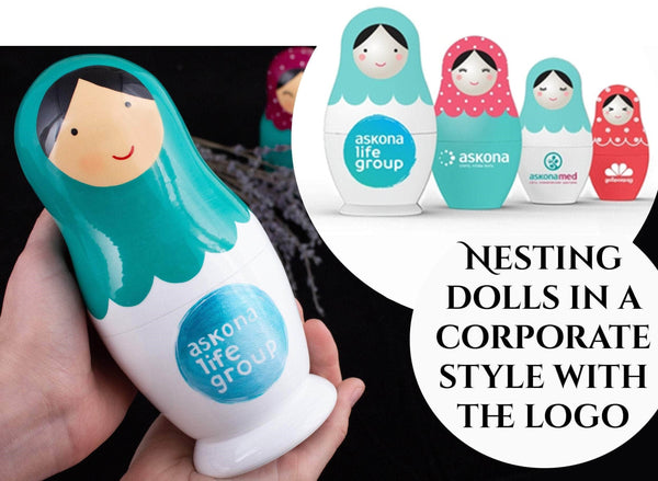 custom nesting doll with logo