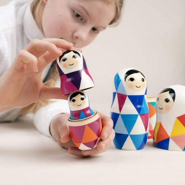 Nesting dolls as a Montessori toy for kids