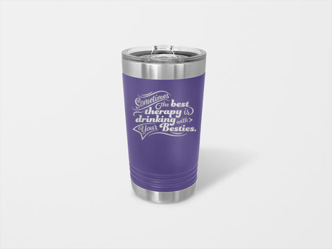 Image of The Best Therapy Is Drinking With Your Besties Pint - Handmade in Harrisburg