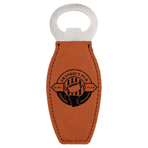 Faux Leather Magnetic Bottle Opener - Handmade in Harrisburg
