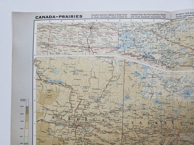 Vintage Map of Saskatchewan 1963 - Handmade in Harrisburg