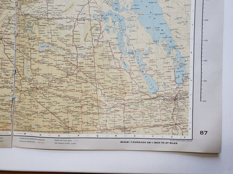 Image of Vintage Map of Saskatchewan 1963 - Handmade in Harrisburg