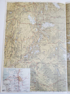 Vintage Map of Utah and Colorado 1963 - Handmade in Harrisburg