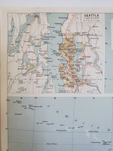 Load image into Gallery viewer, Vintage Map of Washington Coast and Hawaii 1963 - Handmade in Harrisburg