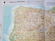 Load image into Gallery viewer, Vintage Map of Spain and Portugal 1963 - Handmade in Harrisburg