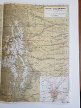 Load image into Gallery viewer, Vintage Map of Utah and Colorado 1963 - Handmade in Harrisburg