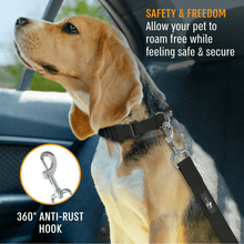 Load image into Gallery viewer, Universal Dog Seatbelt - Active Pets | Car Dog Seat Cover | Dog Leash | Dog Collar