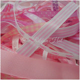 Plain/Printed Baby Girls Ribbon Bundle-10 X 1 Mtr Lengths-Baby Shower,Trimmings