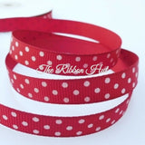 10mm Polka Dot/Dotty/Spotty Grosgrain Ribbon-5 Metres-Hair Clips,Craft