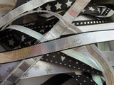 Black White Silver Christmas Ribbon Bundle 10 X 1Mtr