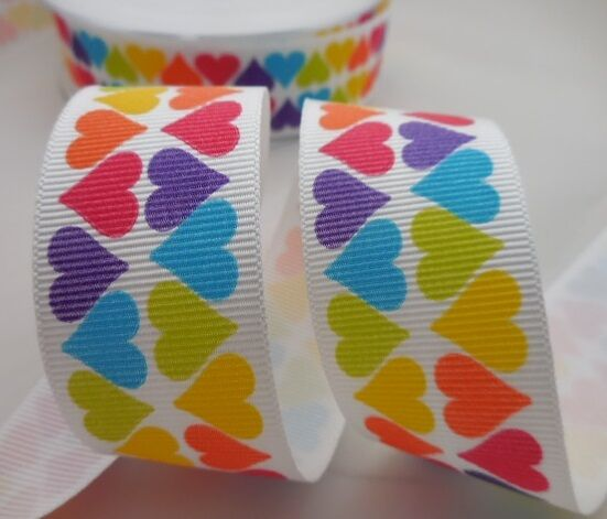 Berisfords 15mm - 25mm Bright Print Grosgrain 4 Patterns 2 Lengths