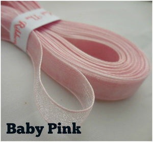 9mm Organza/Sheer Ribbon - 4 Metres - 22 Colours - Crafts, Trimmings
