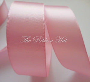 25mm Double Satin Ribbon - Pastel Shades - 2 Metres - Crafts,Trim