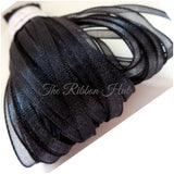 3mm Woven Edge Sheer Organza Ribbon-5 Metres- Tying Ribbon,Crafts,Free P & P