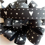 15mm Hearts & Kisses Printed Ribbon 3 Lengths 4 Colours by Berisfords