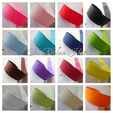 Grosgrain Ribbon 22mm Solid Colours Crafts Trimmings Embellishments 16 Colours