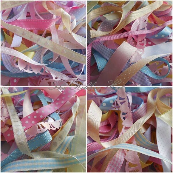 10mm - 25mm Mixed Pastel Decorative Ribbon Bundles 10 X 1Mtr