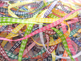 5mm Gingham Ribbon Bundle/Pack-10 pieces x 1 metre long-Tying Ribbon-Berisfords