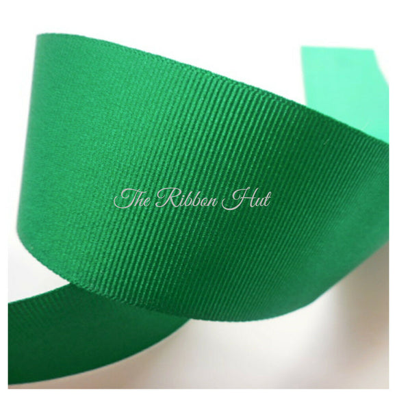 Greens & Yellow Solid Grosgrain Ribbon Berisfords 7 Colours 5 Widths Free P & P