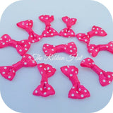 Polka Dot/Spotty Grosgrain Ribbon Mini Bow Ties- 3 cm- Pkt. 50- Small /Tiny Bows