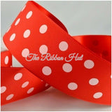 38mm Polka Dot Ribbon Grosgrain/Satin-Per Metre-Bow Making,Crafts