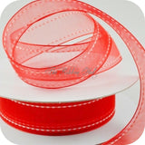 22mm Stitched Edge Organza/Sheer Ribbon-Per Metre-Weddings,Crafts,Embellishment
